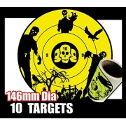 Pure Gold 10 Zombie Targets Compatible with Nerf Bb Guns Wall Sticker Target 14. 5Cm