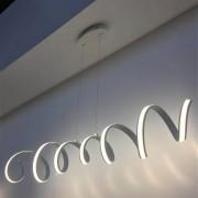 Kosiluz Lámpara colgante LED vórtice blanco - Millenium