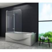 ROUND 75 cm hoek vouwdeur douchewand voor bad helder glas