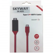 Cable Adaptador Hdmi A Tipo C Skyway 2mts 4k Tv Celular