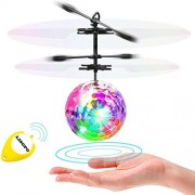 LISOPO Rc Flying Ball, Flashing Led Light Ball Toy Infrared Induction Helicopter Toys for Kids, Teenagers Colorful Flyings Boys and Girls