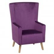 BELIANI Fauteuil bergère violet ONEIDA - BELIANI
