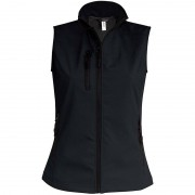 Kariban Softshell bodywarmer zwart voor dames S (36/48) - Bodywarmers