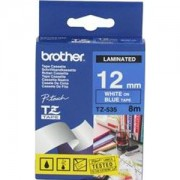 Ламинирана лента Brother TZ Tape 12mm WHITE ON BLUE, Laminated, 8m lenght, for P-Touch - TZE535