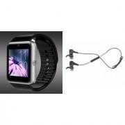Zemini GT08 Smart Watch and Reflect Earphone for LG OPTIMUS L3 DUAL(GT08 Smart Watch with 4G sim card camera memory card |Reflect Earphone )