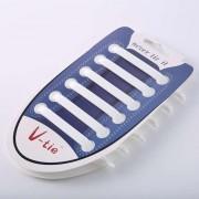 12 stuks/set creatieve Unisex vrouwen mannen atletische Running geen stropdas schoenveters elastische siliconen schoen Lace voor alle sneakers (wit)