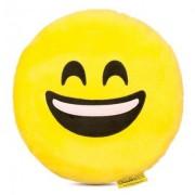 Perna decorativa Emoji Smiley Happy Face Textil Galben