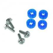 Set suruburi antivibratii Lamptron HDD Rubber Screws UV blue