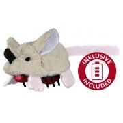 Plyšová běhací myš na baterie 5,5 cm - hračka pro kočky