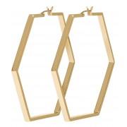 CLUSE Oorbellen Essentiele Large Hexagonal Hoop Earrings Goudkleurig