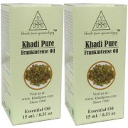 Khadi Pure Herbal Frankincence Essential Oil - 15ml (Set of 2)