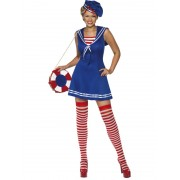 Costum carnaval femei Marinar albastru