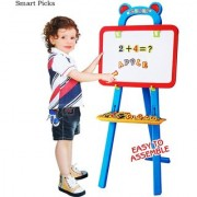 3 in 1 Educational Learning Easel Magnetic White Chalk Board Multi Color (84 Pieces)