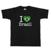geschenkidee.ch Ländershirt Brasilien, Schwarz, XL, Mann