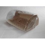 Kenyértartó mintás ajtóval vajszín műanyag (554)