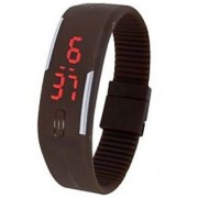 Danzen Digital Brown LED Sports Unisex Watch-499