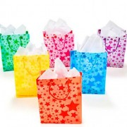 Frosted Star Gift Bags (1 dz) Color: Assorted Colors, Lark, Amuse, Trifle, Twiddle