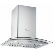 Hindware 60 cm 1200 m³ HR Auto-Clean Angular Kitchen Chimney JKL20146 Wall Mounted Chimney(Black 1200 CMH)