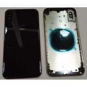 Carcaça para iPhone XS max preta sem componentes com logo