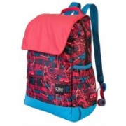 Wiki by Wildcraft Backpack_Mini 3 Aztec_red Backpacks 18 L Backpack(Red)