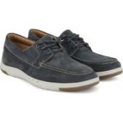 Clarks Unmaslow Edge Navy Nubuck Casual Shoe For Men(Navy)