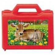 Дървен пъзел - Кубчета със домашни животни - Ravensburger, 7007408