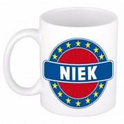 Bellatio Decorations Voornaam Niek koffie/thee mok of beker