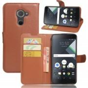 Premium PU Leather Wallet Case con bolsillos para la identificación, tarjetas de crédito para BlackBerry DTEK60 Tablet-Nergo