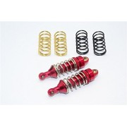 Traxxas 1/16 Mini E-Revo, Mini Slash, Mini Summit Upgrade Parts Aluminum Front/Rear Adjustable Spring Damper (1.2mm,1.3mm & 1.4mm Coil Springs) with Aluminum Ball Ends - 1Pr Set Red