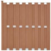 vidaXL Panou gard cu 1 stâlp, maro, 180 x 180 cm, WPC