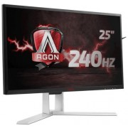 "Monitor Gaming TN LED AOC AGON 24.5"" AG251FZ, Full HD (1920 x 1080), VGA, DVI, HDMI, DisplayPort, 240 Hz, Boxe, Pivot, 1 ms (Negru/Argintiu)"