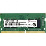 Memorie laptop Transcend JM 4GB DDR4 2666 Mhz, SO-DIMM,JM2666HSH-4G