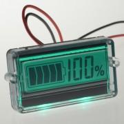 Indikator stanja akumulatora sa LCD displejom zeleni