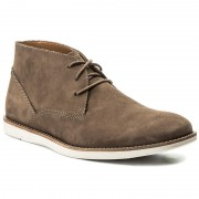 Обувки CLARKS - Franson Top 261261927 Brown Nubuck