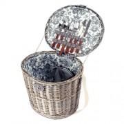Coș de picnic pentru 2 persoane, 36 x 30 x 33 cm