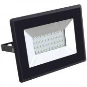 Vanjski LED reflektor 30 W Neutralno-bijela V-TAC VT-4031B Crna