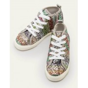 Mini Bunt/Regenbogen, Glitzer Hochgeschnittene Schuhe mit Regenbogenglitzer Mädchen Boden, 25, Multi