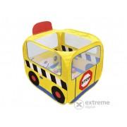 Tarc de joaca Ks Kids, autobuz scolar, mingi colorate