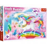 Puzzle Trefl 100 piese - Lumea de cristal a unicornilor