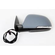 Retroviseur SKODA OCTAVIA 2009-2013 - Electrique - Coiffe a peindre - Clignotant - Eclainage - Rectractable - Droit
