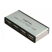 HUB USB EXTERN, CONECTORI IESIRE: 4x USB 2.0 SI INTRARE: 1xUSB 2.0, ALIMENTATOR PRIZA INCLUS, ALUMINIU, LOGILINK UA0003