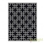 Covor design LUX din lana realizat manual, Caton 300x400cm negru/ alb 108525 HZ
