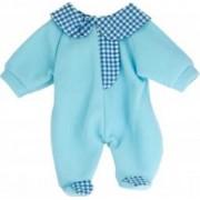 Pijama salopeta bleu pentru papusi Miniland 38-42 cm