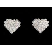Štrasové náušnice srdce 32507 32507