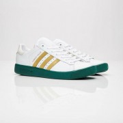 Adidas forest hills Ftwr White/Gold Met./Collegiate Green