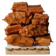 15 zakken gedroogd essenhout a 8 kg