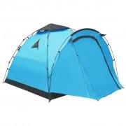 vidaXL Pop up палатка за къмпинг, 3-местна, синя