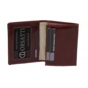 Skórzane etui na wizytówki Orsatti EW01B w kolorze brązowym
