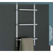 TOALLERO TRIPLE PARA INSTALAR EN MUEBLE, MAMPARA O RADIADOR. BELTRAN 2293 - Material: Acero Inox. Atornillado