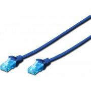 Cablu UTP Digitus Patchcord Cat 5e 0.5m Albastru